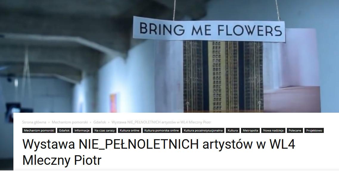 Wystawa NIE_PEŁNOLETNICH artystów w WL4 Mleczny Piotr
