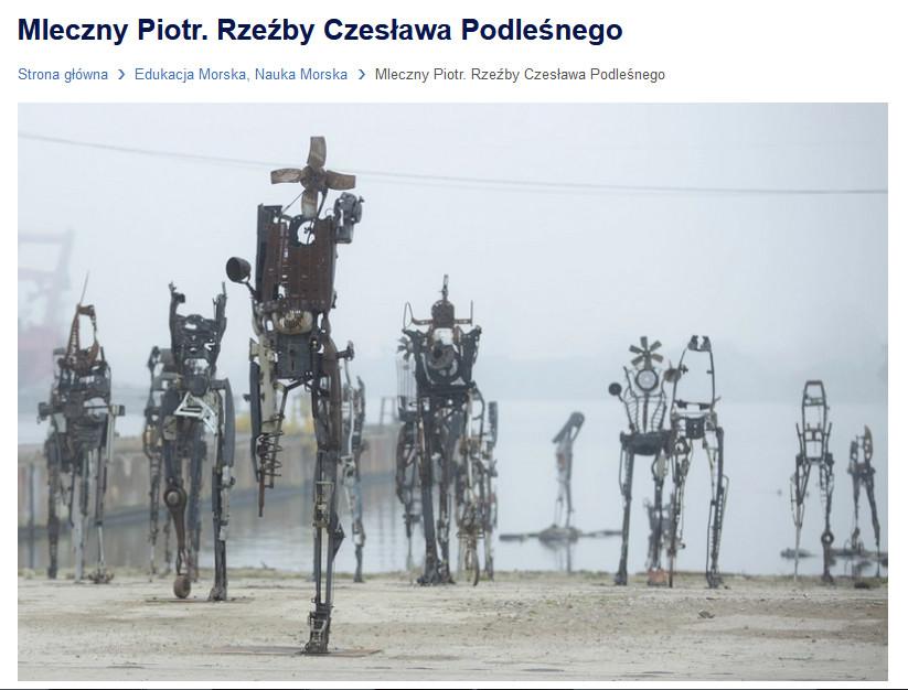 Mleczny Piotr. Rzeźby Czesława Podleśnego