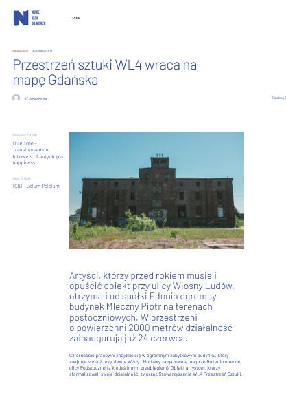 Przestrzeń sztuki WL4 wraca na mapę Gdańska